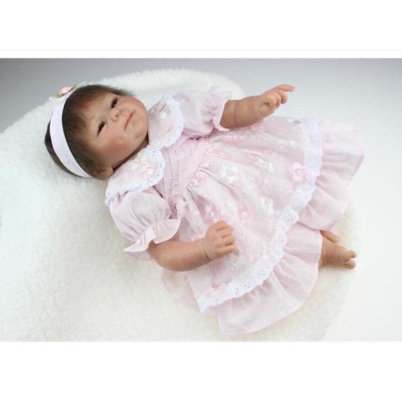 European Fashion Vinyl Dolls 45 Cm 18 Inch Lifelike Silicone Reborn Baby Dolls Toys For