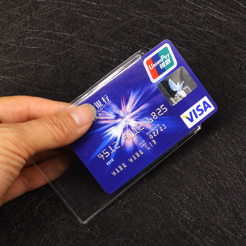 Waterproof PVC Credit Card Holder Transparent Plastic