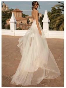 Image 3 - LORIE Beach Wedding Dresses Spaghetti Strap Mermaid Bride Dress  Backless Princess Long Wedding Gown Boho Bride Dress 2019
