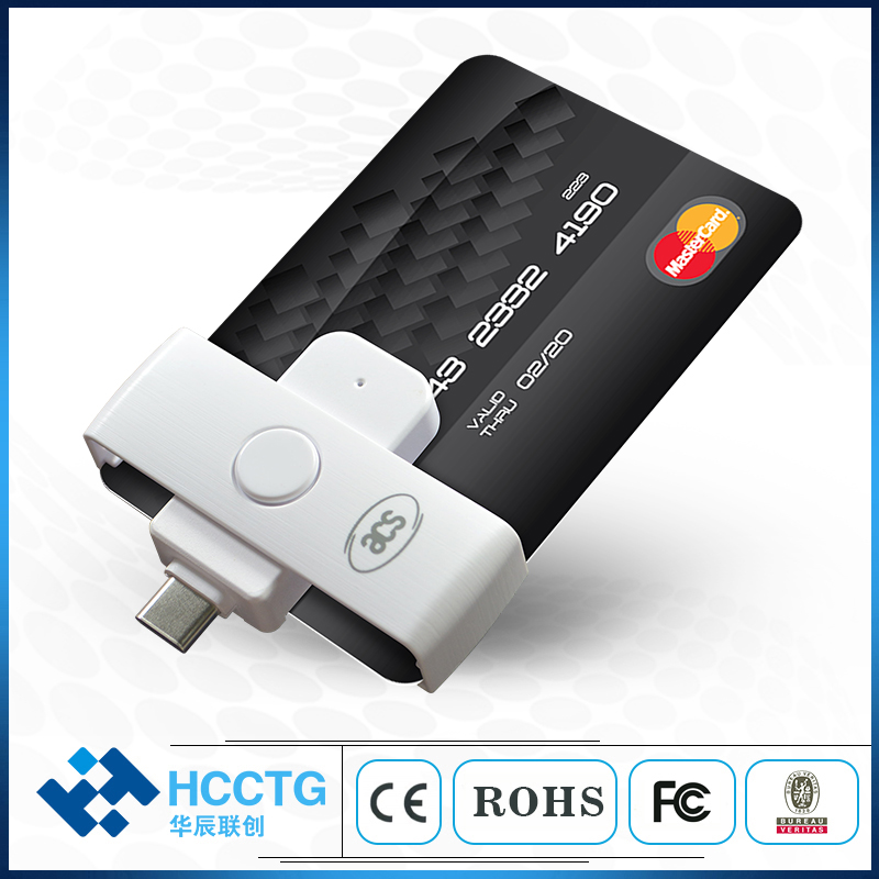 USB Type C Plug N Play Otg Smart Card Reader For Banking & Payment ACR39U-NF