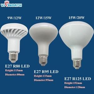 Image 3 - R50 Led lamp E14 E27 Base 3W 5W 7W 9W 12W 15W 20W Led Bulb R39 R63 R80 Br30 Br40 Spotlight AC 110V 220V 240V Warm Cold White