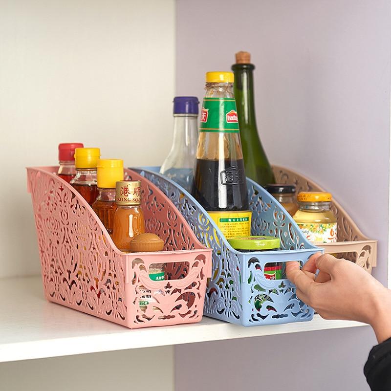 Enkelt liv Tykt plast Opbevaringskande Skrivebord Badeværelse Familie Sundries Pen Pencil Opbevaring Kurv Organizer Vintage Container