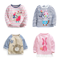 New 2017 Brand 100% Cotton Baby Girls t shirts Kids Clothing Clothes Children Long Sleeve t-shirt Girls Blouse Undershirts Girls
