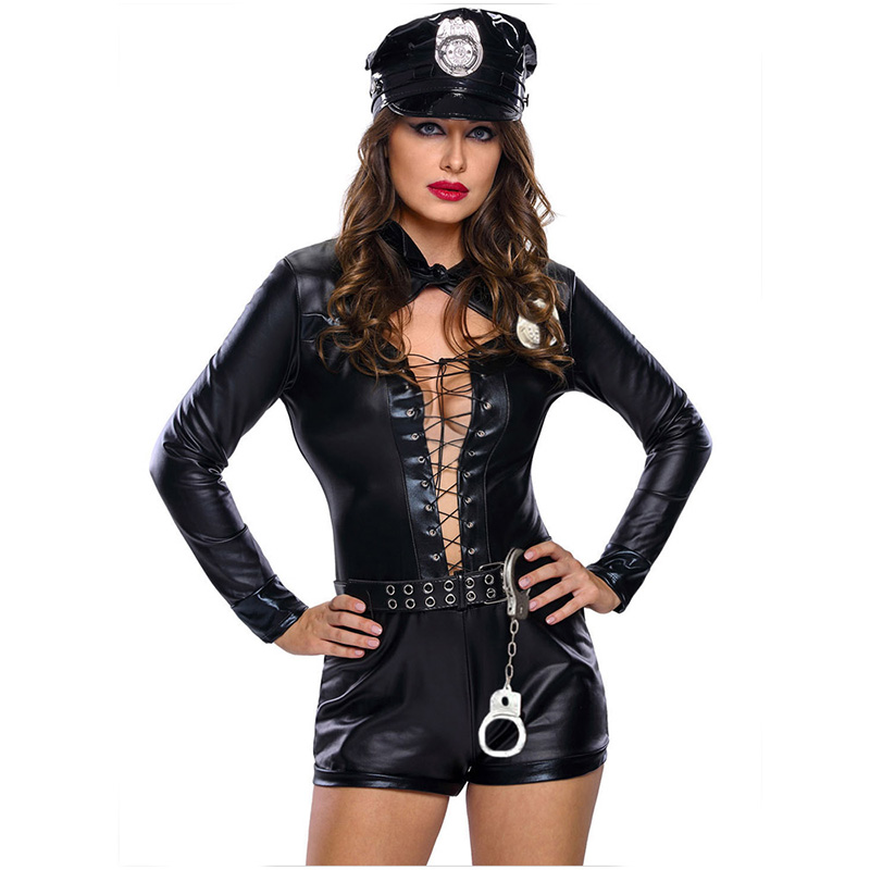 Halloween Costumes For Women Police Cosplay Costume Dress -7906