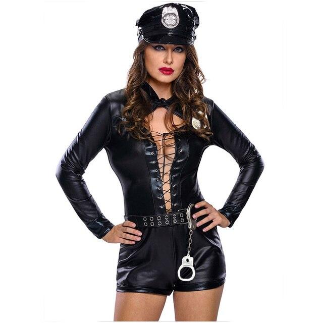 Kostüm der sexy Frauenpolizei