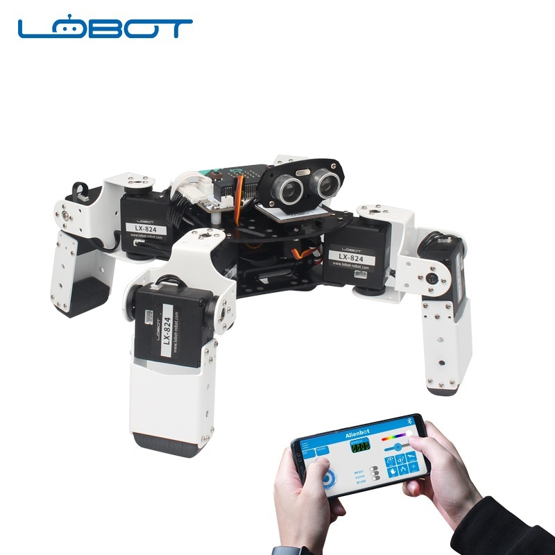 LOBOT Alienbot Raspberry Micro:bit Programmable Multifunctional PC/APP Control Smart RC Robot