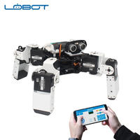 LOBOT Alienbot Raspberry Micro:bit Programmable Multifunctional PC/APP Control Smart RC Robot