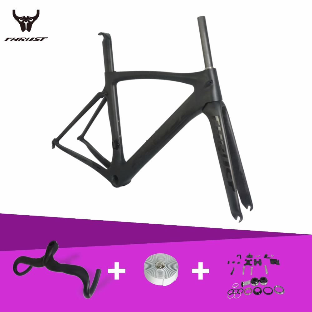 Carbon Road Bike Frame 2017 49/52/54/56/58cm Super Light Handlebar Tape+Handlebar+Fork+Headset+Clamp Carbon Bicycle Road Frame nuckily r007 road bike bicycle pu handlebar tape belt wrap black