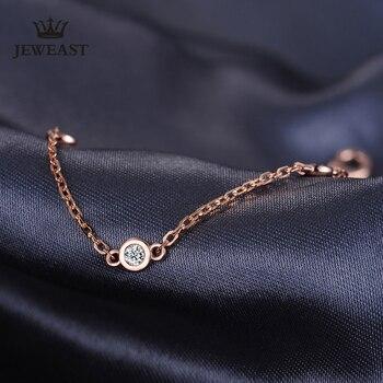Pulsera Natural De Oro Rosa Puro De 18 K, Brazalete De Moda Para Mujeres, Regalo Para Niñas, Joyería De Fiesta De Moda, Gran Oferta