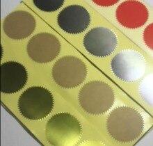 Autocollant à gaufrage de 45mm, pour tampon à gaufrage, sceau à gaufrage personnalisé, bricolage, certificat universitaire, 500 pièces