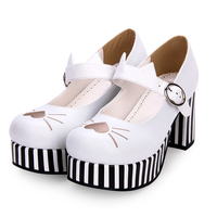Angelic imprint New Designer Sweet Lolita s Women Pumps shoes PU Leather Embroidery heart shaped High Heel shoes size35 46 8967