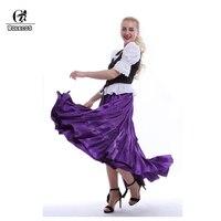 ROLECOS ליל כל הקדושים תלבושות ארוכות חצאית חצאית נשים רוקדות תלבושות אופנה עבור לנשף הצג וינטג 2017 קיץ סתיו
