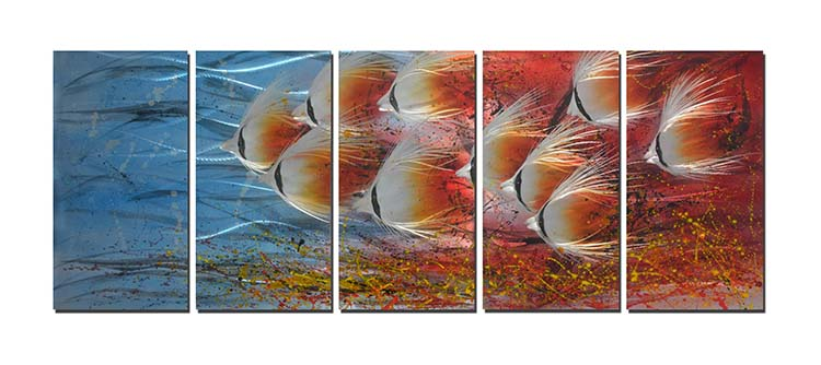 Metal Fish Wall Decor metal fish wall hangings promotion-shop for promotional metal fish