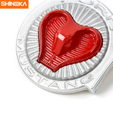 SHINEKA Car Engine Start/Stop Switch Button Cover Trim Keyless Cobra Cover Interior Moulding for Ford Mustang 2015+ цены онлайн