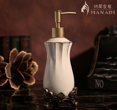 Ancient Europe Ice Crack Ceramic Lotion Bottle Hand Pump Soap Dispenser Home Supplies Carving Base Prochoos Sanitizer Bottle sanitizer bottle soap bottle hand sanitizer bottles - title=