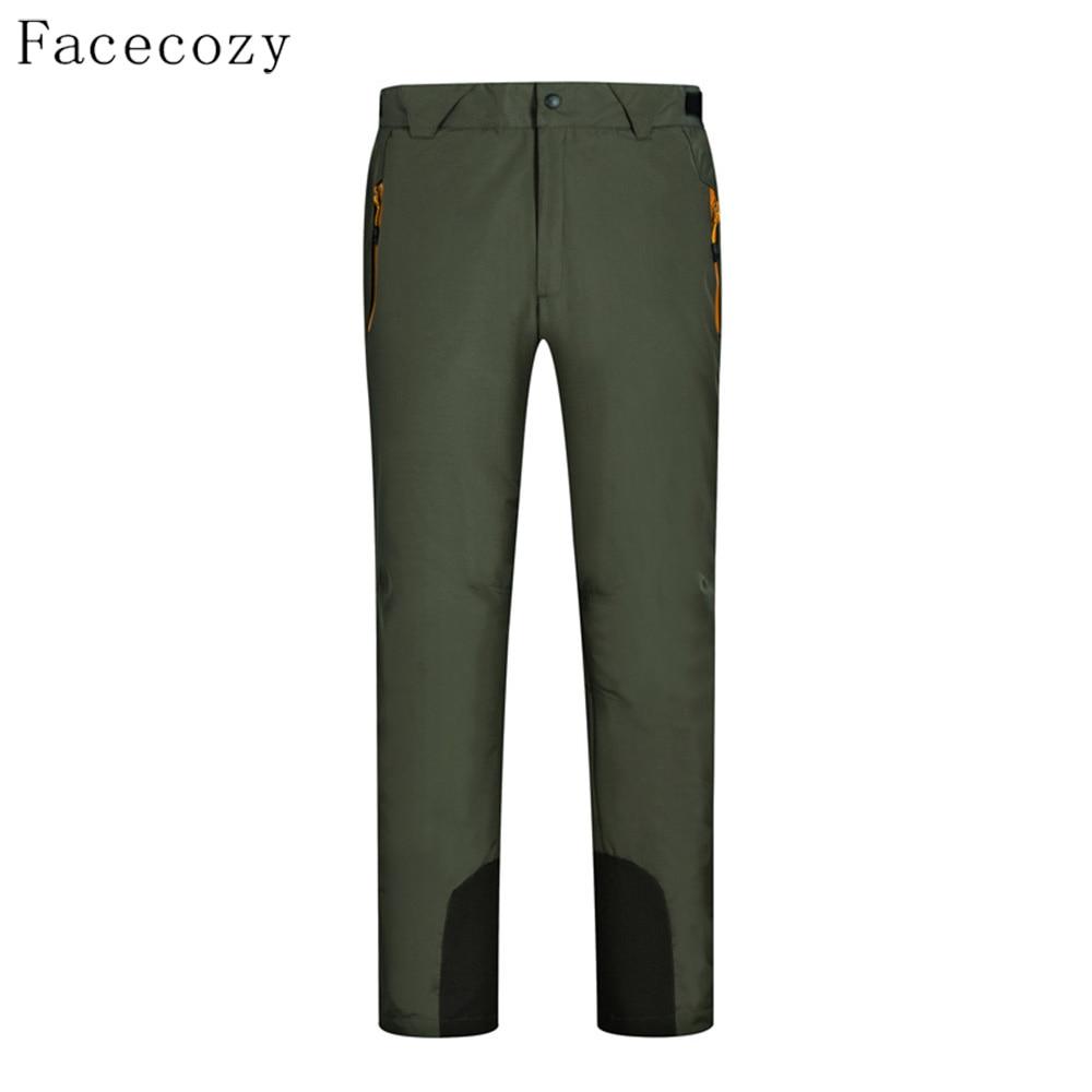 Facecozy Winter Men Women Softshell Hiking Pants Inner Fleece Removable Camping Trousers Outdoor Windproof Trekking Pant