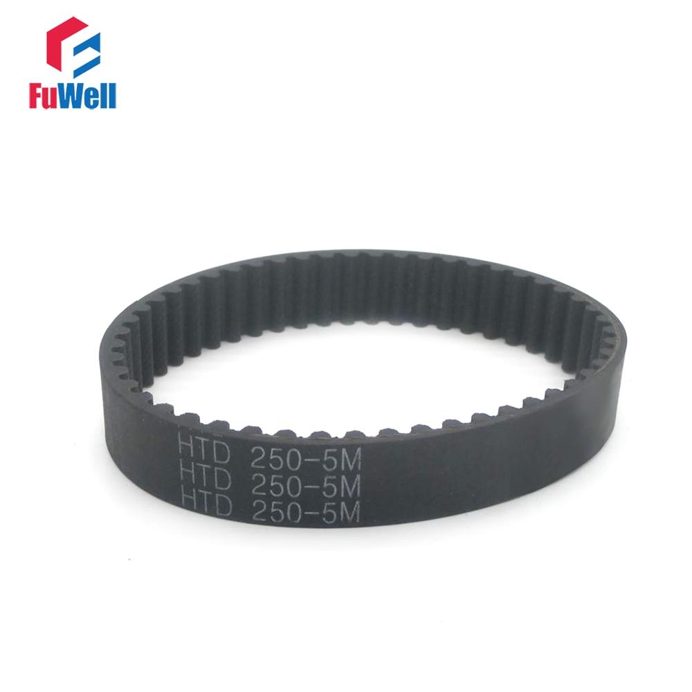 5pcs HTD5M 250-5M 265-5M 285-5M 360-5M Timing Belt 50T 53T 57T 72T 15/20/25mm Width Timing Pulley Belt 5mm Pitch Gear Belt