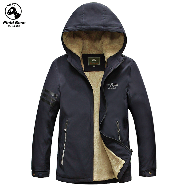2017 New Warm Parkas Winter Jacket Men Casual Cotton Jackets Male Hooded Winter Coats Outerwear Solid Trench FL-58139