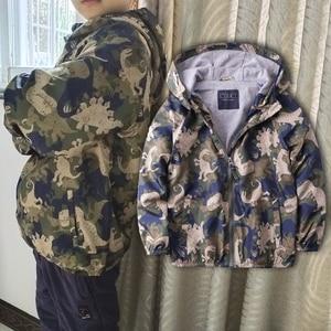 Image 5 - Boy Jacket Coat Boy Spring Hooded Coat Dinosaur Printed Very Good Quality for 3 12 years old Brand Kids Boys Windbreaker