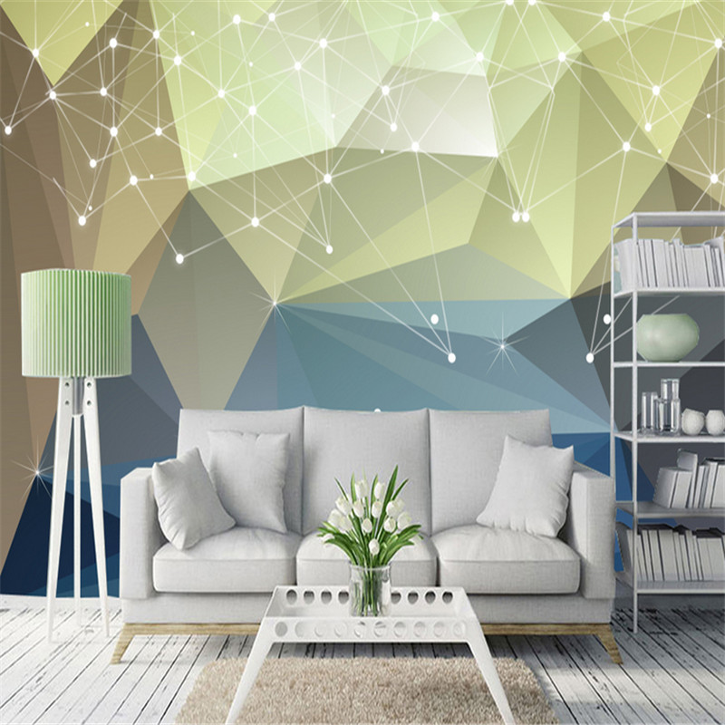 large custom 3d photo living room bedroom study non-woven wallpaper Nordic simple abstract line geometry TV background wall 3d stereoscopic large mural custom wallpaper living room sofa bedroom tv background wall paper non woven fabric white flowers