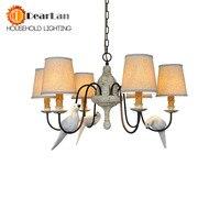 Modern Bird Pendant Lights 3 Heads/6 Heads Pendant Lamp American Iron Pendant Lamp Parlor Lamp Hotel Hall Lights For Hotel Decor