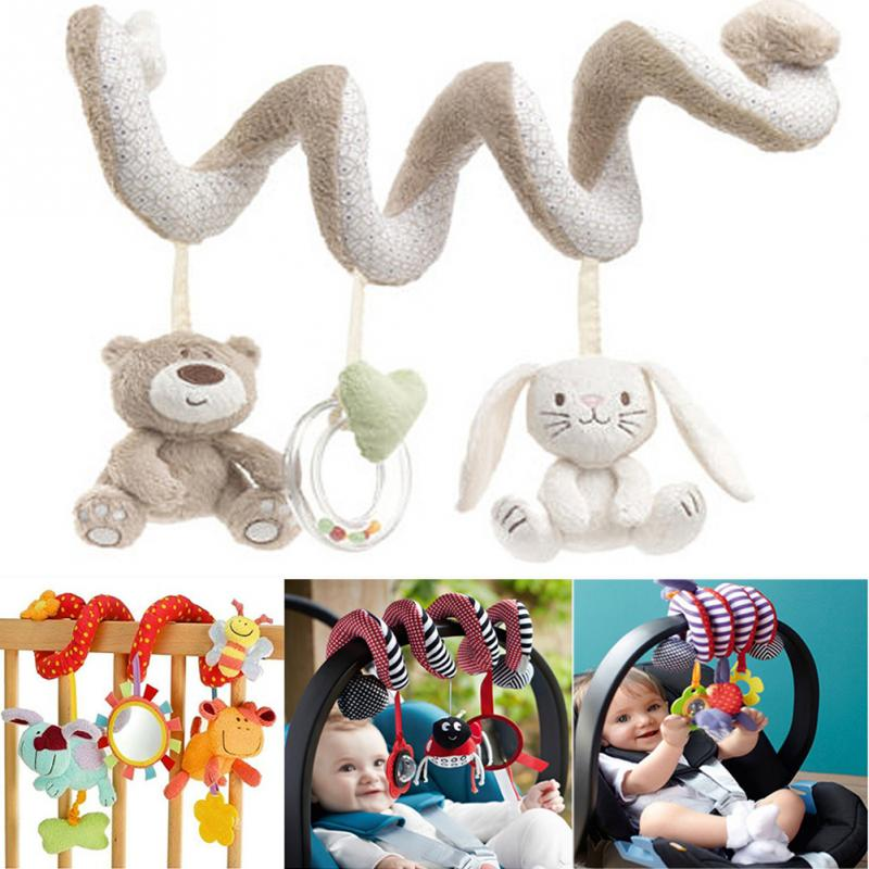 TONQUU Stroller Baby Plush Toys Education Rattle Crib