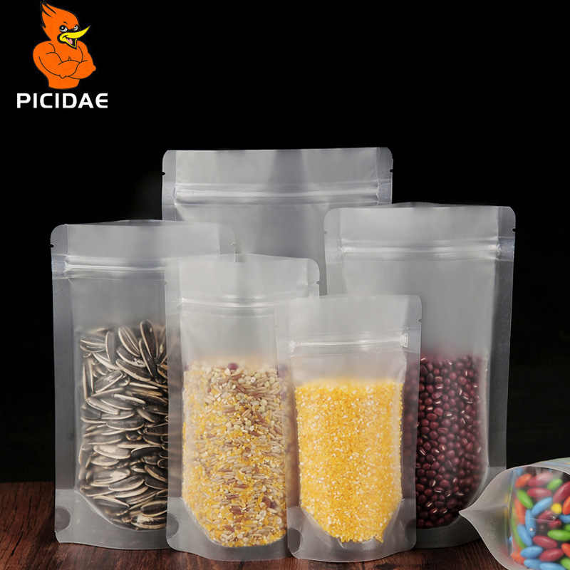 Stand Up Food Pouch Matte Zip Lock Plastic Bag Packaging Frosted Self Clear Ziplock Heat Seal Baking Package Reclosable Snacks