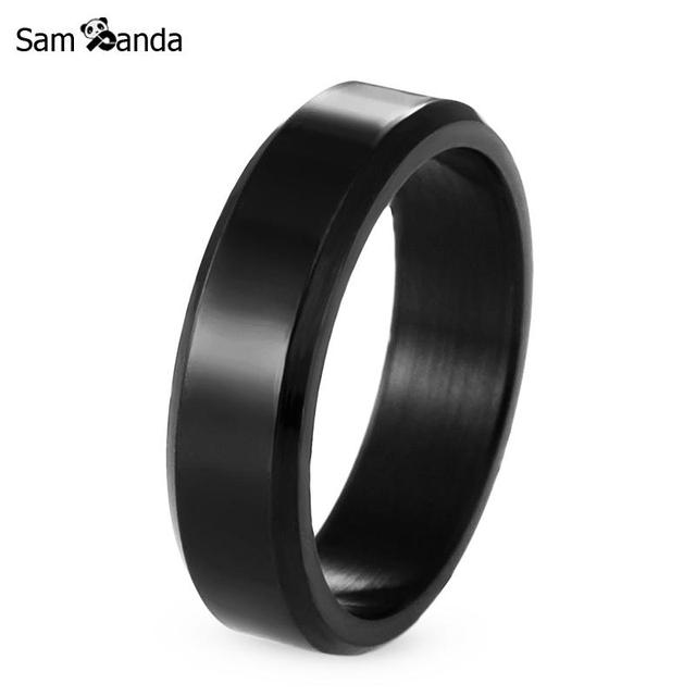Titanium Band Brushed Wedding Stainless Steel Solid Ring Men Women 316L Stainles