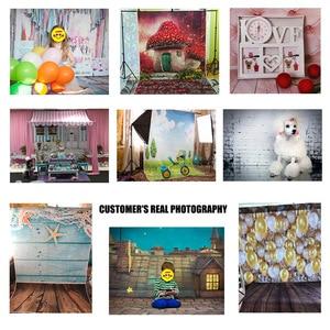 Image 4 - สีชมพูดอกไม้สีเทาWall Photoพื้นหลังผ้าไวนิลPhotoboothฉากหลังสำหรับเด็กคนรักPhotocallการถ่ายภาพProps