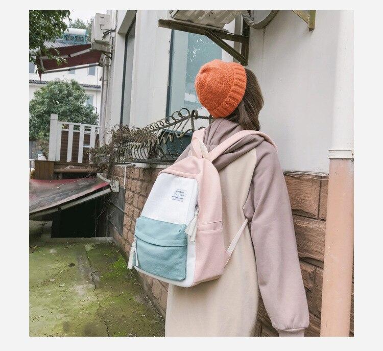 HTB1ir1IauP2gK0jSZFoq6yuIVXav 2019 New Fashion Women Backpack Leisure Shoulder School Bag For Teenage Girl Bagpack Rucksack Knapsack Backpack For Women