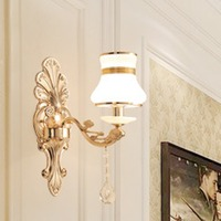 Hotel Villa Bedside Lamp Led Crystal Wall Light For Bedroom Living Room TV Background Wall Home Decoration B212
