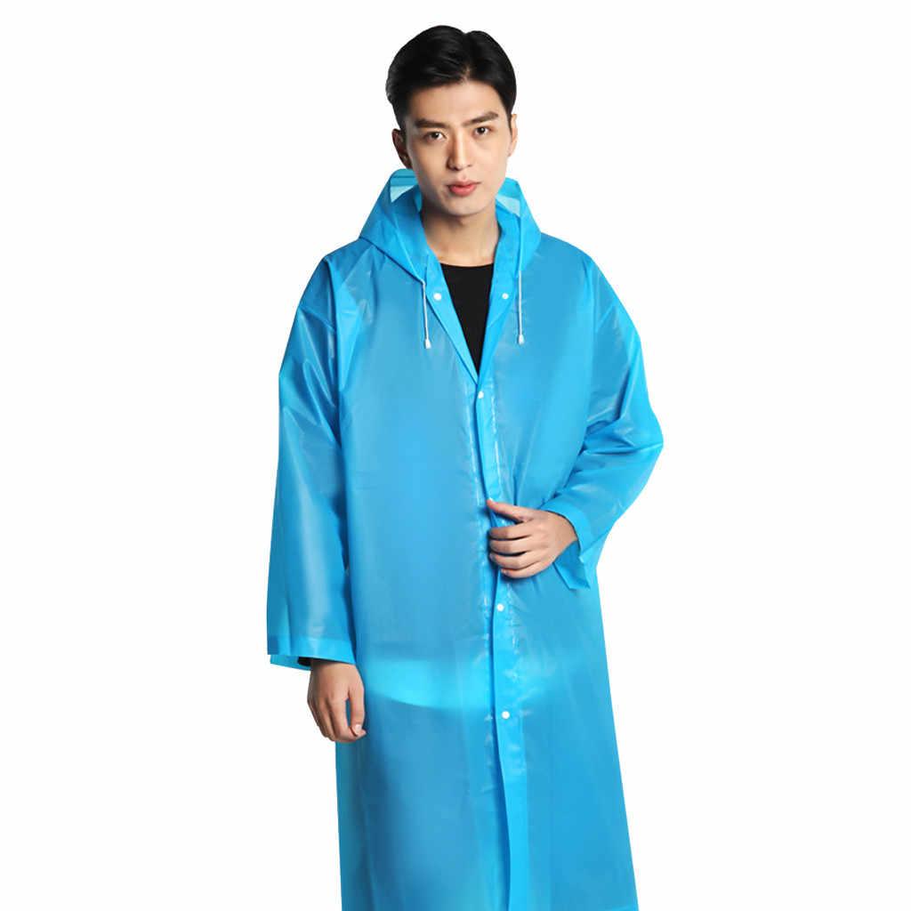 معطف مطر هوديي شفاف مقاوم للماء هود المعطف السفر التخييم يجب معطف واقي من المطر للجنسين الكبار المحمولة غير القابل للتصرف 2019