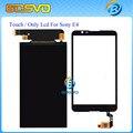 Sólo Monitor Pantalla LCD + Digitalizador de Pantalla Táctil Negro sensor de cristal para sony para xperia e4 e2104 e2105 e2115 e2124