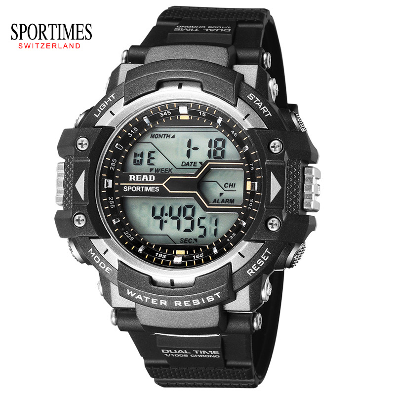 Luxury Brand READ Watch Men Digital Mens Watches Waterproof Multifunction Sports Wristwatches Man Clock Male Fashion