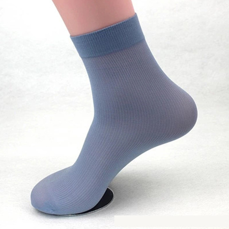 20 Pairs/ Lot High Quality Brand Men Business Casual Silk Socks Spring Summer Male Thin Socks