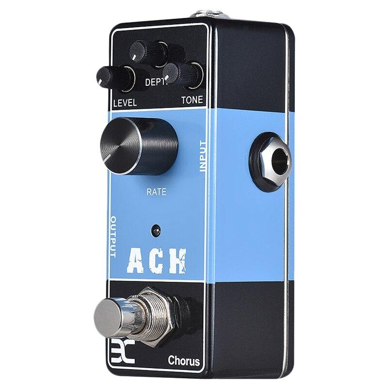 Eno Ex Ach Chorus pédale d'effets de guitare acoustique True pontage pur analogique effets uniques coque métal complet accessoires guitare