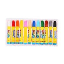 12 цветов восковой карандаш масляной пастельный карандаш набор для рисования граффити для детей школьные офисные товары для рукоделия подарки