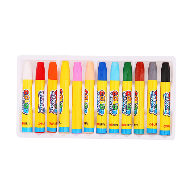 12 colors wax crayon oil pastel pen set drawing painting graffiti for children kids school office