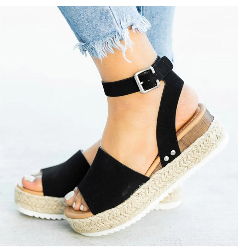 Women High Heels Sandals Summer Shoes Flip Flop Chaussures Femme Platform Sandals 23