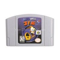 Nintendo N64 Video Game Cartridge Console Card Earthworm Jim 3D English Language Version