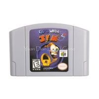 Nintendo N64 Video Game Cartridge Console Card Earthworm Jim 3D English Language Version