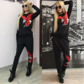 Sequins Print Eagle Tracksuit for Women Autumn Women's Sportwear Sweatshirt Joggings Femme 2 pieces Set Hoodie Brand Track Suit