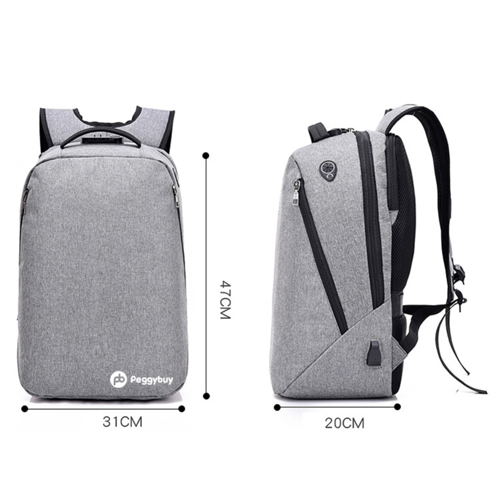 Multifunctional Usb Charging Canvas Backpack Men 17 Inch Laptop Backpack For Back To School Teenager Mochila Leisure Pack Unisex #3