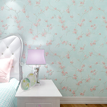 Plum Blossom 3D Embossed Wall Paper Roll Stereo Pink Floral Wallpapers for Bedroom Small Flower Blue Wedding Room