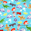 140X100cm Sky Blue Background Toy Story Cotton Fabric Baby Boy Clothes Sewing Bedding Set Hometextile Patchwork