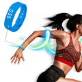 Novo Medidor de Contagem de Passos 3D Inteligente Pulseira Da Moda Cor pura e Simplesmente de Adultos Tela Universal