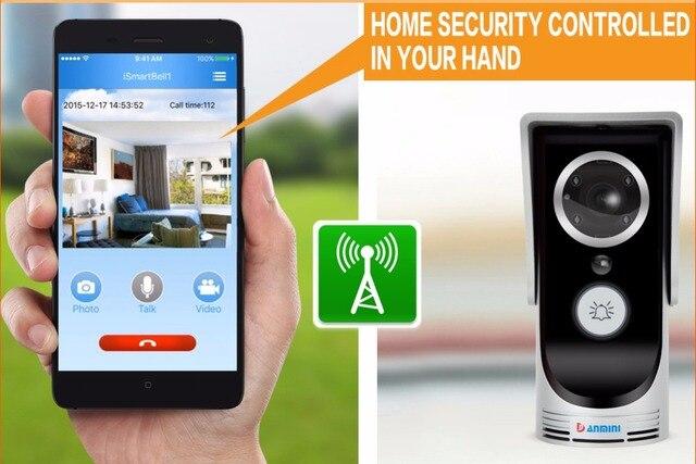 Wi-fi Беспроводной Видео-Телефон Двери интерком Дверной Звонок Peehole Камеры Дистанционного Разблокировать ИК Ночного Видения Сигнализация Android IOS умный дом