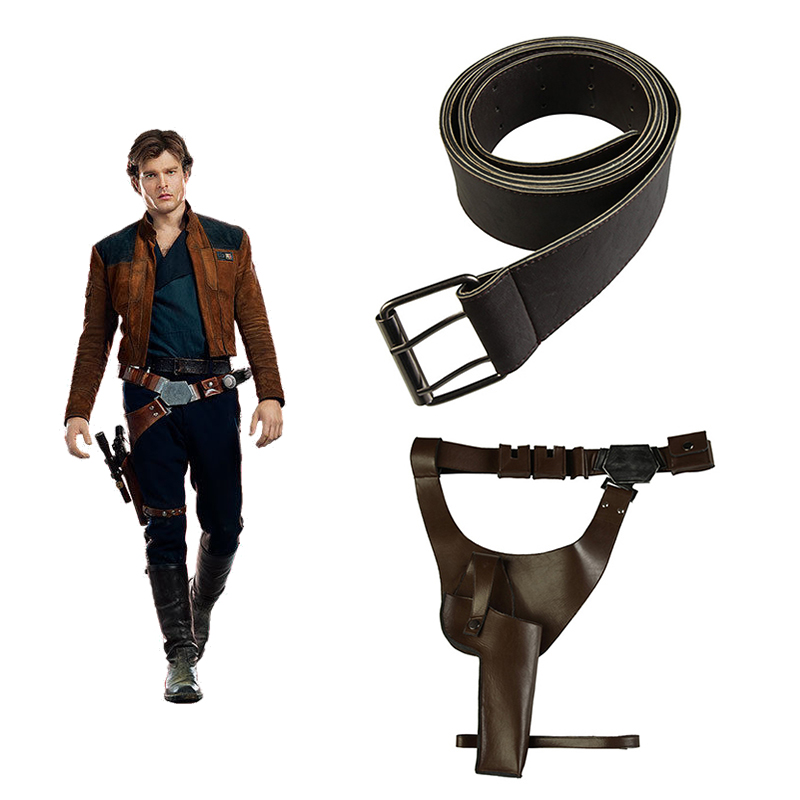 Solo A Star Wars Story Cosplay Props Han Solo Belt Strap Holster Halloween Costume Accessories Movie Belt Holster Adult Men belt