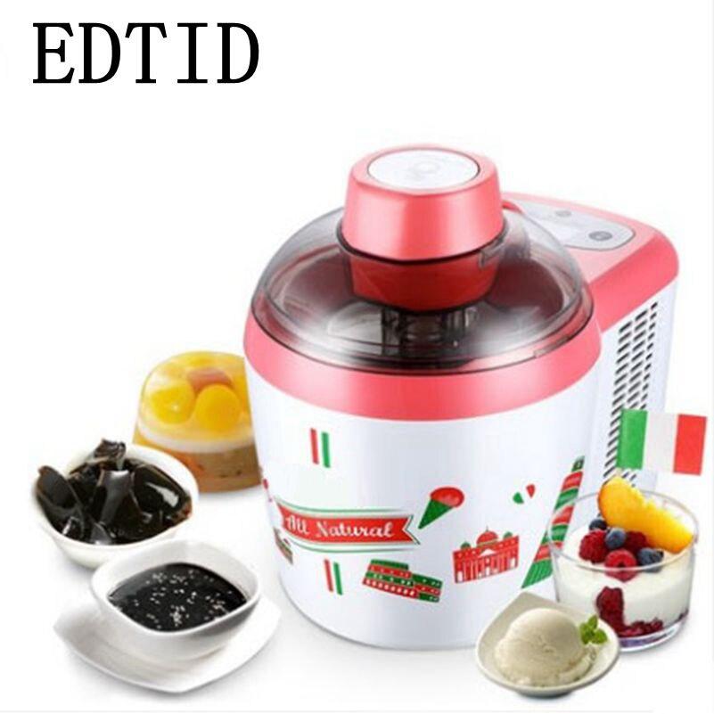 EDTID Household Intelligent Ice Cream Maker Full Automatic Electric Icecream Machine DIY Milkshake Frozen Fruit Dessert 600ML EU