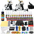 Solong Tattoo Complete Tattoo Kit for Beginner Starter 2 Pro Machine Guns 28 Inks Power Supply Needle Grips Tips TK204-22